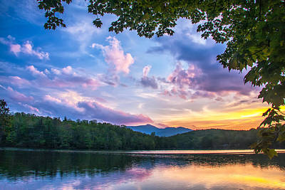 Photograph - Price Lake Sunset by Jim Dollar