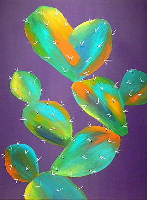 Prickly Pear Painting - Prickly Pear Abstract by Karyn Robinson