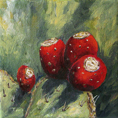 Prickly Pear Painting - Prickly Pear Cactus II by Torrie Smiley