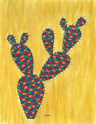 Prickly Pear Cactus Paradise Art Print