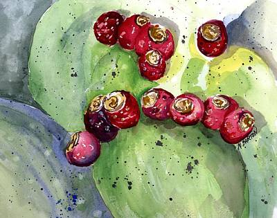 Painting - Prickly Pear Fruit by Marilyn Barton
