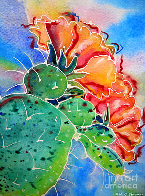 Painting - Prickly Pear by M C Sturman