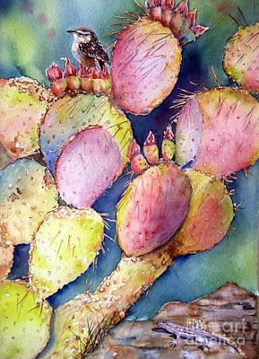 Prickly Perch Original by Patricia Pushaw