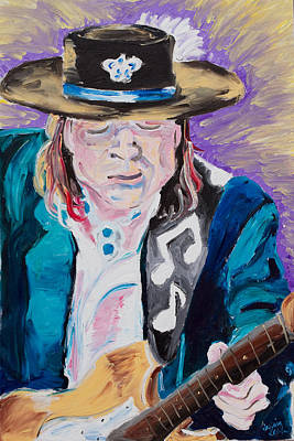 Fender Strat Painting - Pride And Joy by Jessica Keith