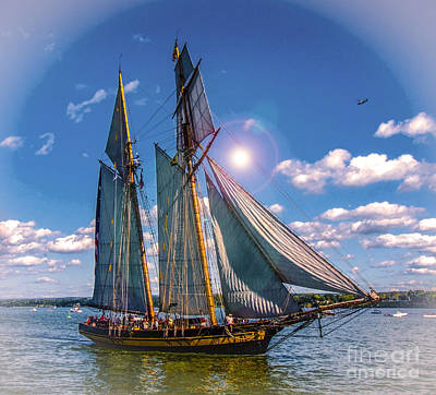 Digital Art - Pride Of Baltimore 3 by Kathryn Strick