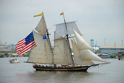 Pride Of Baltimore II Passing By Fort Mchenry Art Print by Mark Dodd