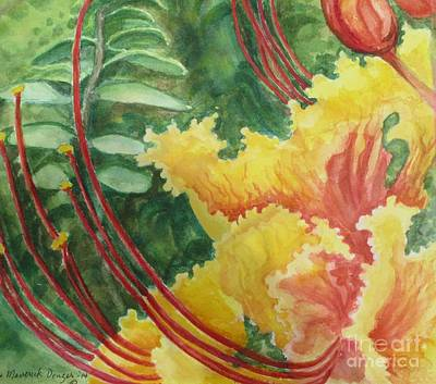 Painting - Pride Of Barbados  by Lynn Maverick Denzer