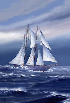 Bluenose Painting - Pride Of Nova Scotia by Captain Bud Robinson