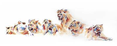 Pride Painting - Pride Of Samburu by Stephie Butler