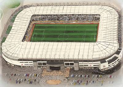Pride Painting - Pride Park - Derby County by Kevin Fletcher