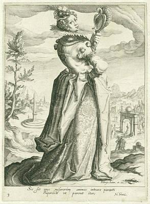 Deadly Drawing - Pride Superbia, Zacharias Dolendo, Jacob De Gheyn II by Zacharias Dolendo And Jacob De Gheyn Ii And Hugo Grotius Or Hugo De Groot