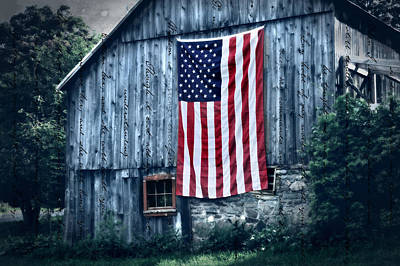 Red White And Blue Photograph - Pride by Thomas Schoeller