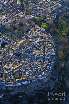 Aerial Photograph - Priego De Cordoba Fort From The Air by Guido Montanes Castillo