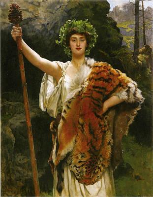 Collier Digital Art - Priestess Bacchus by John Collier