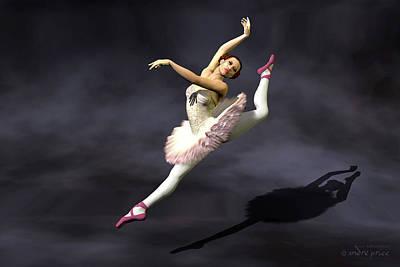 Prima Ballerina Heaven Grand Jete Pose Art Print