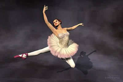 Prima Ballerina Heaven Jete Leap Pose Art Print by Andre Price