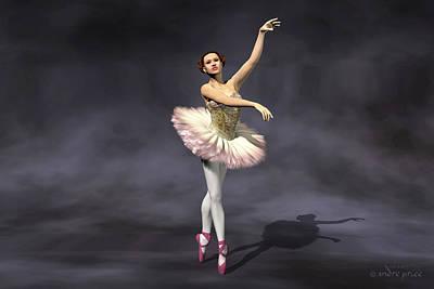 Prima Ballerina Heaven On Pointe Pose Art Print