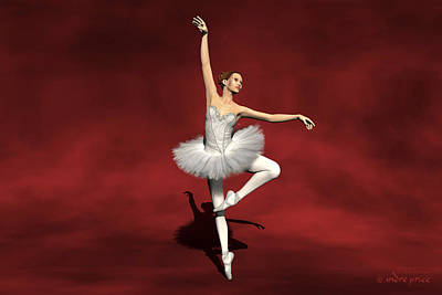 Prima Ballerina Kiko Pirouettes Pose Art Print
