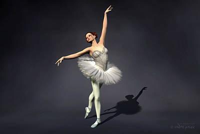 Prima Ballerina Nanashi Croise Derriere Pose Art Print