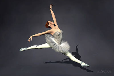 Prima Ballerina Nanashi Grand Jete Pose Art Print