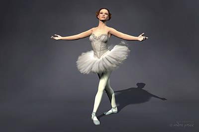 Prima Ballerina Nanashi Pirouette Pose Art Print