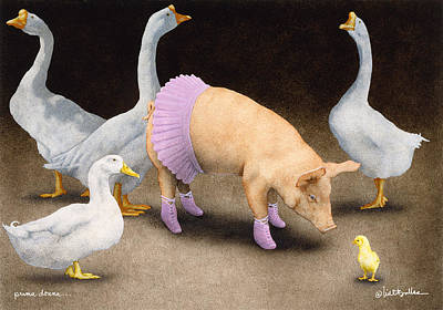 Geese Painting - Prima Donna... by Will Bullas