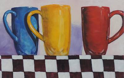 Painting - Primarily Coffee by Bill Tomsa