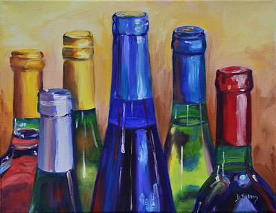 Red Wine Painting - Primarily Wine by Donna Tuten