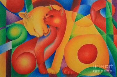 Primary Cats Art Print by Pamela Clements