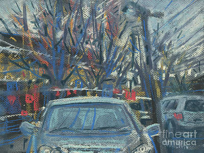 Plein Air Drawing - Primary Parking by Donald Maier