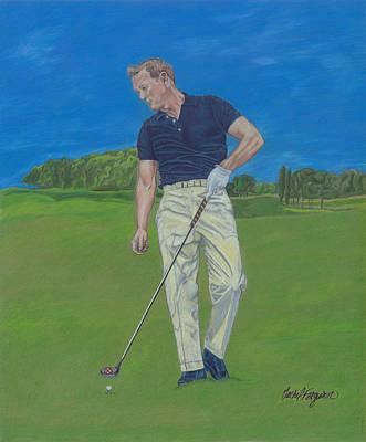 Arnold Palmer Drawing - Prime Arnold Palmer by Rachel Ferguson