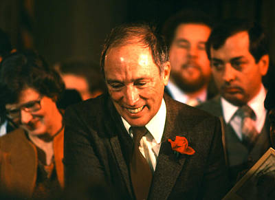Photograph - Prime Minister Pierre Trudeau by Robert  Rodvik