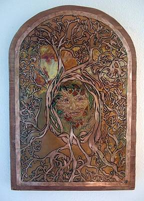 Painting - Primeval Forest Mother by Shahna Lax