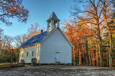 Photograph - Primitive Baptist Church In The Great Smoky Mountains National Park At Cades Cove by Carol Montoya