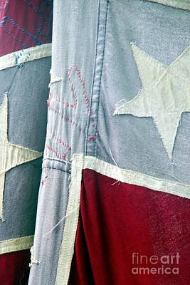 Primitive Flag Art Print by Valerie Reeves