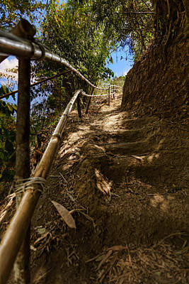 Photograph - Primitive Stairway by Mario Legaspi