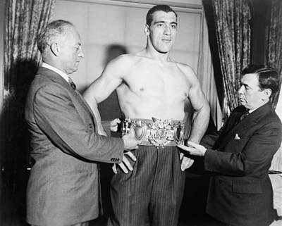Bare-chested Photograph - Primo Carnero, Wearing Worlds by Everett