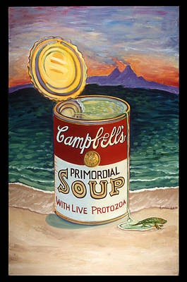 Creation Vs Evolution Painting - Primordial Soup by Karen Fulk