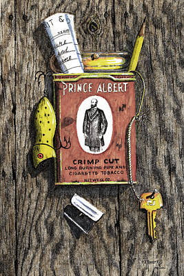 Prince Albert Nailed To The Wall Art Print by Bob Hallmark