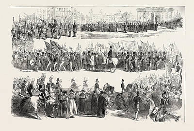 Historic Site Drawing - Prince Alberts Visit To Liverpool The Great Procession by English School