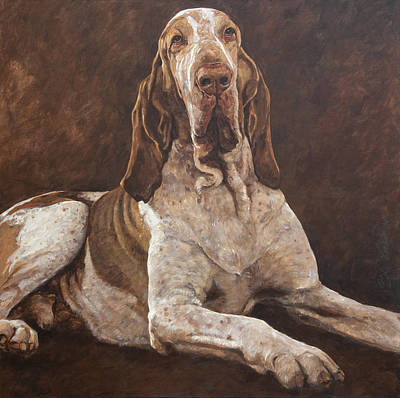 Lazy Dog Painting - Prince by Anke Classen