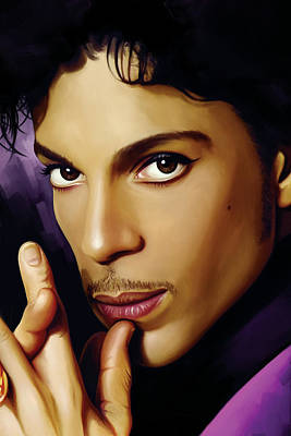 Guitarist Painting - Prince Artwork by Sheraz A