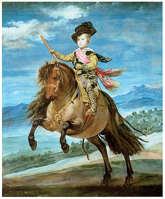 Balthasar Painting - Prince Balthasar Carlos On Horseback by Diego Rodriguez de Silva y Velazquez