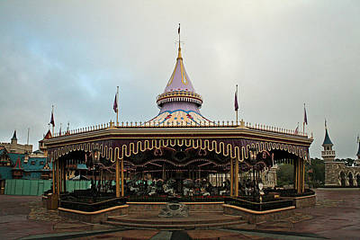 Photograph - Prince Charmings Regal Carousel by Michael Porchik
