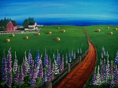 Painting - Prince Edward Island Coastal Farm by Patricia L Davidson