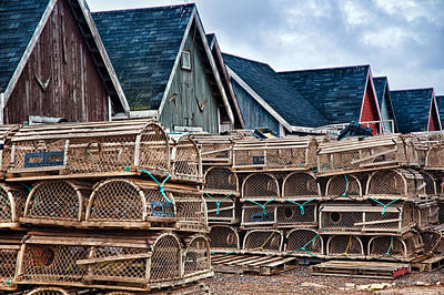 Photograph - Prince Edward Island's Lobster Traps by Ginger Wakem