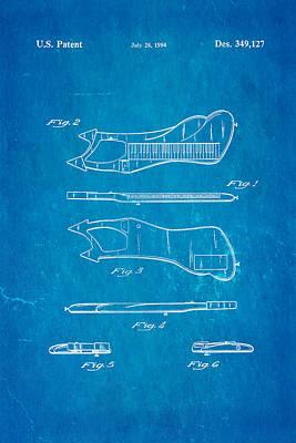 Electronic Photograph - Prince Electronic Keyboard Patent Art 1994 Blueprint by Ian Monk