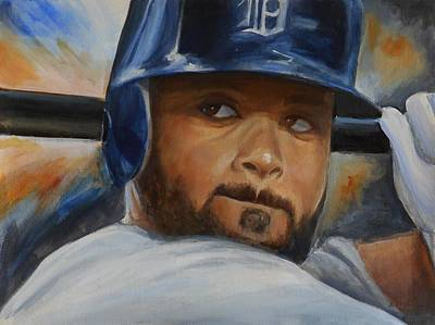 Prince Fielder Painting - Prince Fielder Detroit Tigers by Angie Villegas