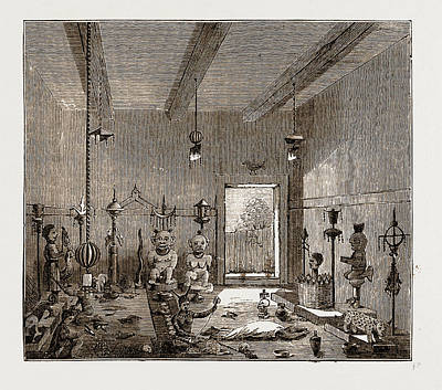 Ghana Drawing - Prince Hahansus Fetish House At Coomassie by Litz Collection