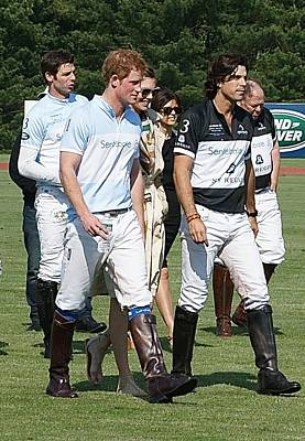 Prince Harry And Nacho Figueras Art Print
